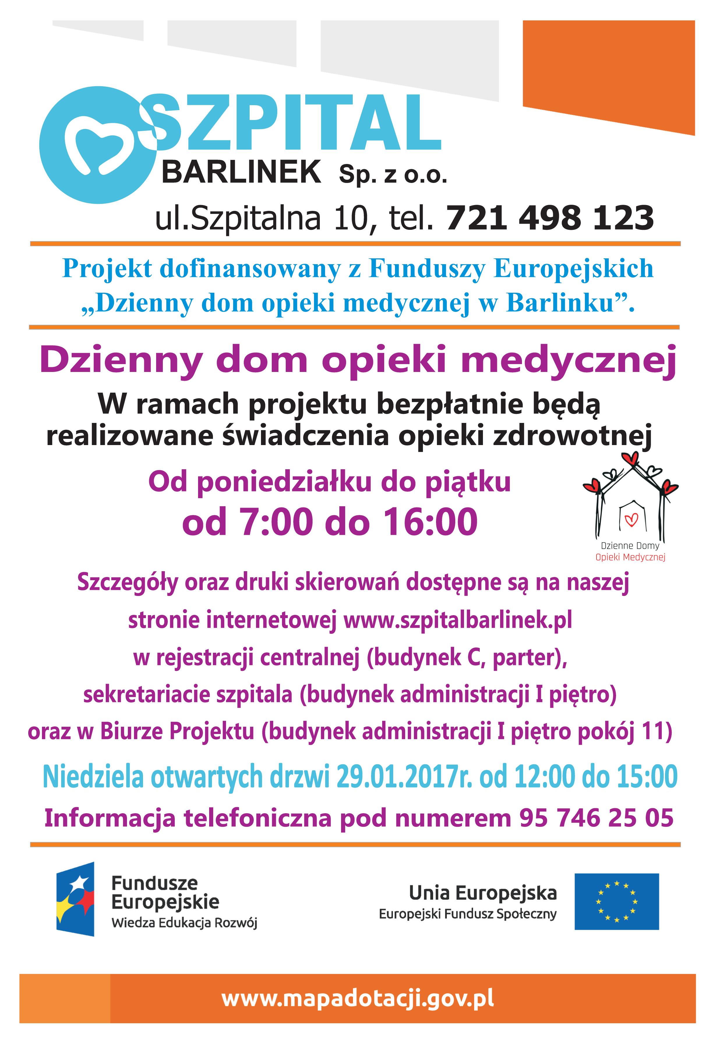 Informacja oDziennym domu opieki medycznej